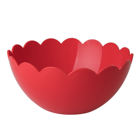 Rice Plastic Salad Bowl with Scallop Edge