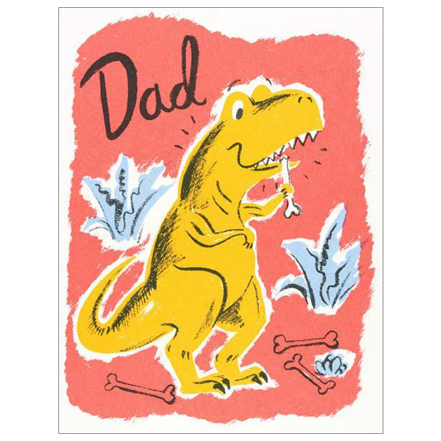 Red Cap Dinosaur Dad Card