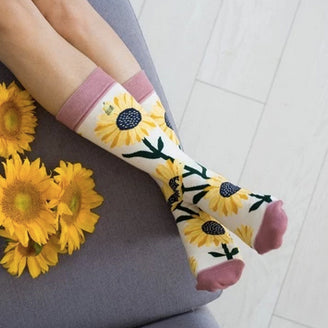 Woven Pear You Are My Sunshine Socks