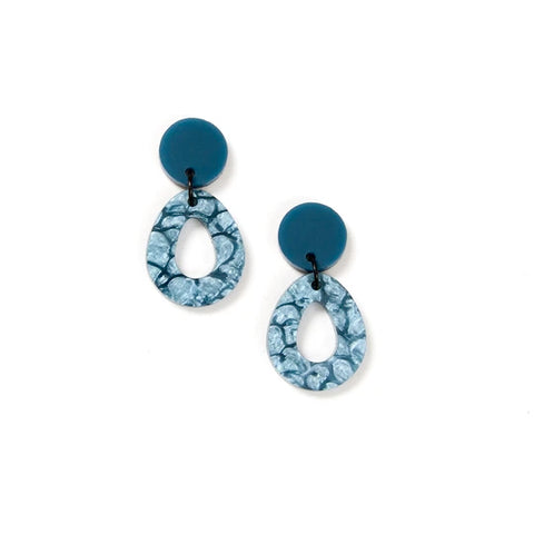 Martha Jean Storm/Blue Tempest Earrings