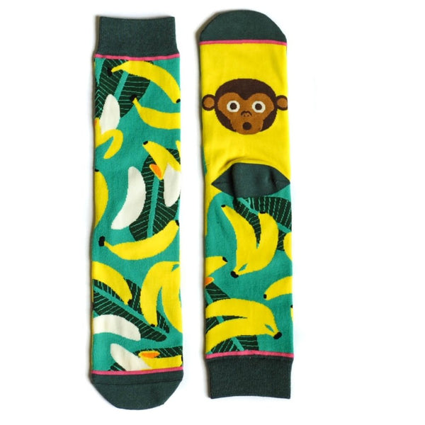 Woven Pear Monkey Business Socks