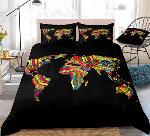 African Map 3 Piece Bedding Set