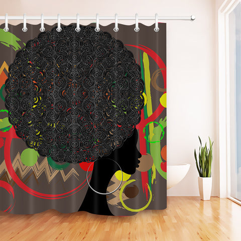 Retro Afro Shower Curtains