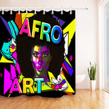 Colourful Afro Art Shower Curtain