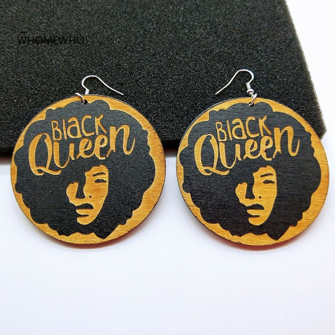 Black Girl Queen Drop Earring