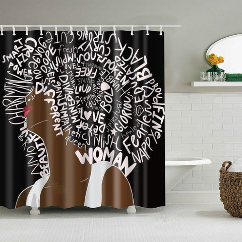 Black Empress Shower Curtain