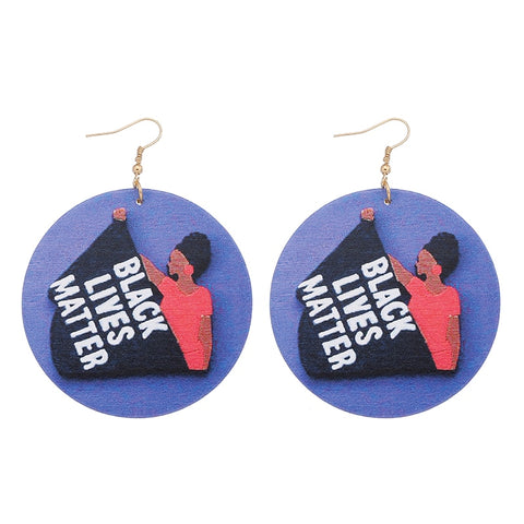 BLACK LIVES MATTER Pendant for African Women Earrings