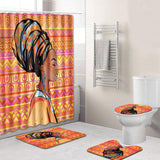 African Woman Bath Set