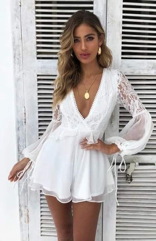 Olivia White Playsuit