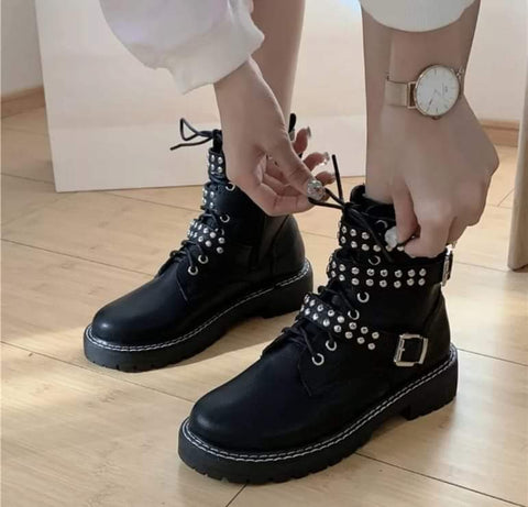 Pearl Strap Boots