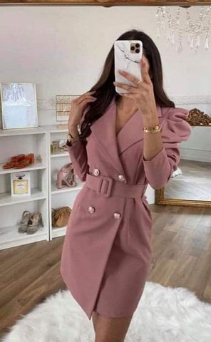 Charlotte Belted Blazer Dress
