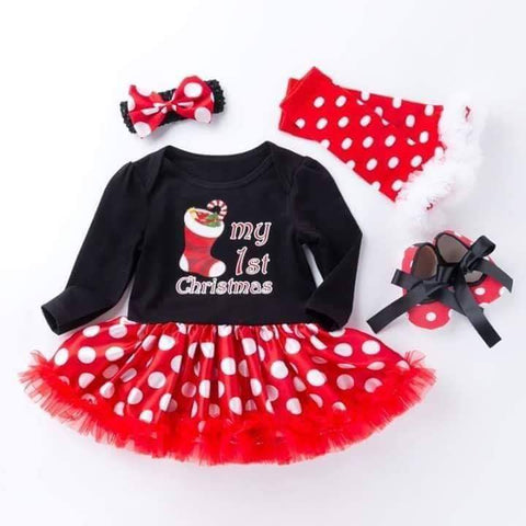 My First Christmas Baby Girls Set Black