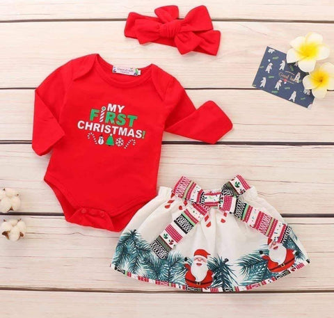My First Christmas Baby Girls Set
