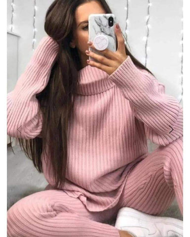 Knitted Roll Neck Jumper Co-Ord Set