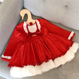 Red Lacey Detailed Girls Dress