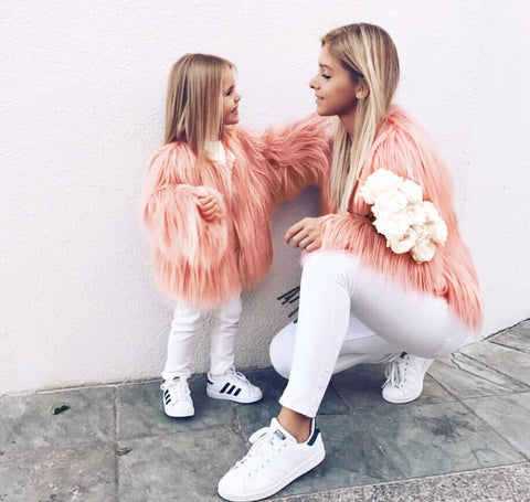 Peach Mother Coat