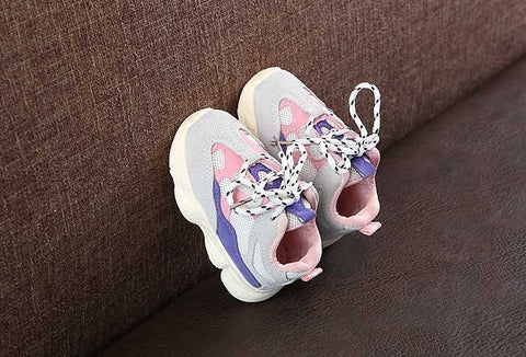 Kids Yez Trainers Purple