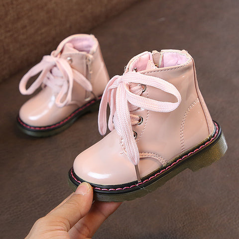 Pink Lace Up Docs