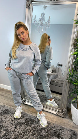 Chain Design Tracksuit Loungewear