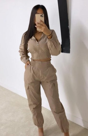 Mocha Two Piece Shell Suit