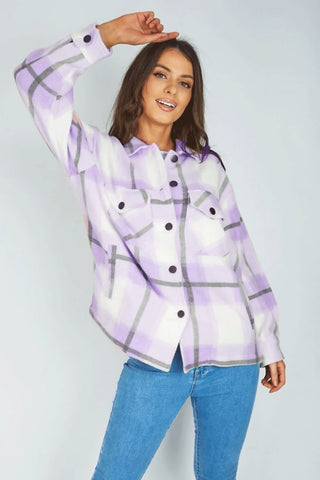 LILAC CHECKED SHACKET