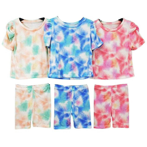 Girl's Tie Dye Short Set PINK