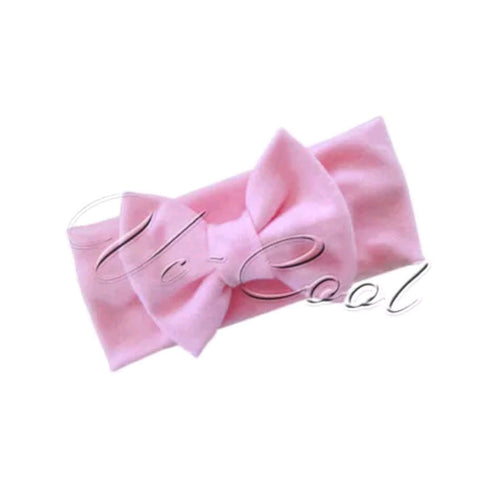 Baby Pink Head Band Bow