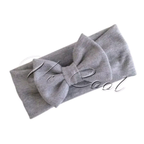 Baby Grey Head Band Bow