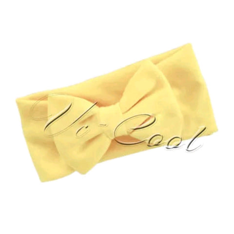 Baby Yellow  Head Band Bow