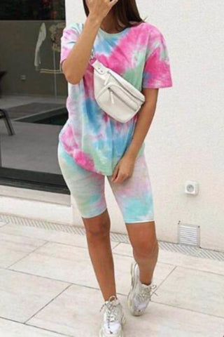 Tie Dye T-Shirt & Shorts Co-ord