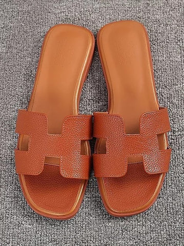 H Sandals - Tanned
