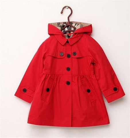 Kids Mac Jacket Red
