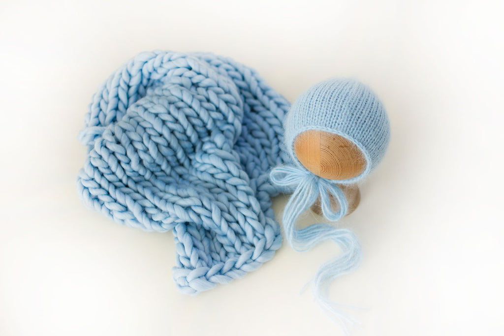 Baby Blue Knit SET