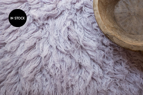 IN STOCK :: Flokati Standard :: DUSTY LAVENDER