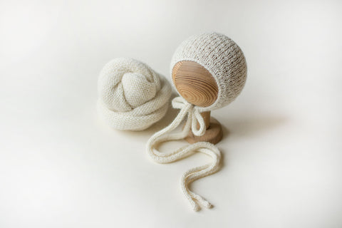 Natural Cream Knit SET