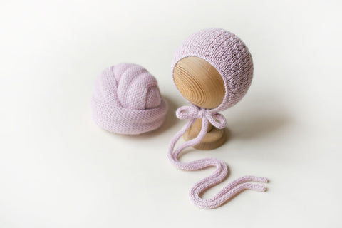 Powder Pink Knit SET