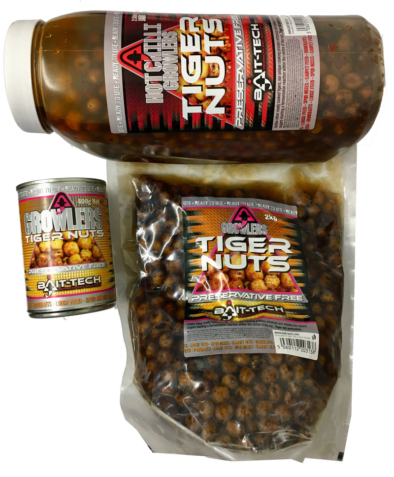 Bait Tech Growlers Tiger Nuts-Bait Tech-Brodies Angling & Outdoors