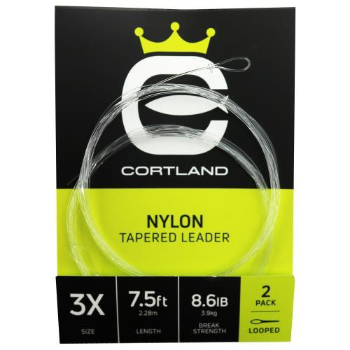 Cortland Nylon Tapered Leaders - 2pack-Cortland-Brodies Angling & Outdoors