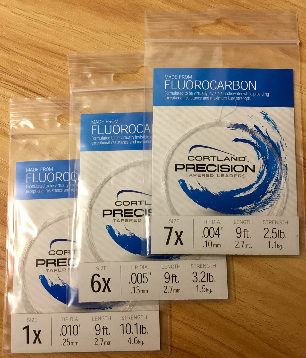 Cortland Precision Fluorocarbon Tapered Leaders-Cortland-Brodies Angling & Outdoors