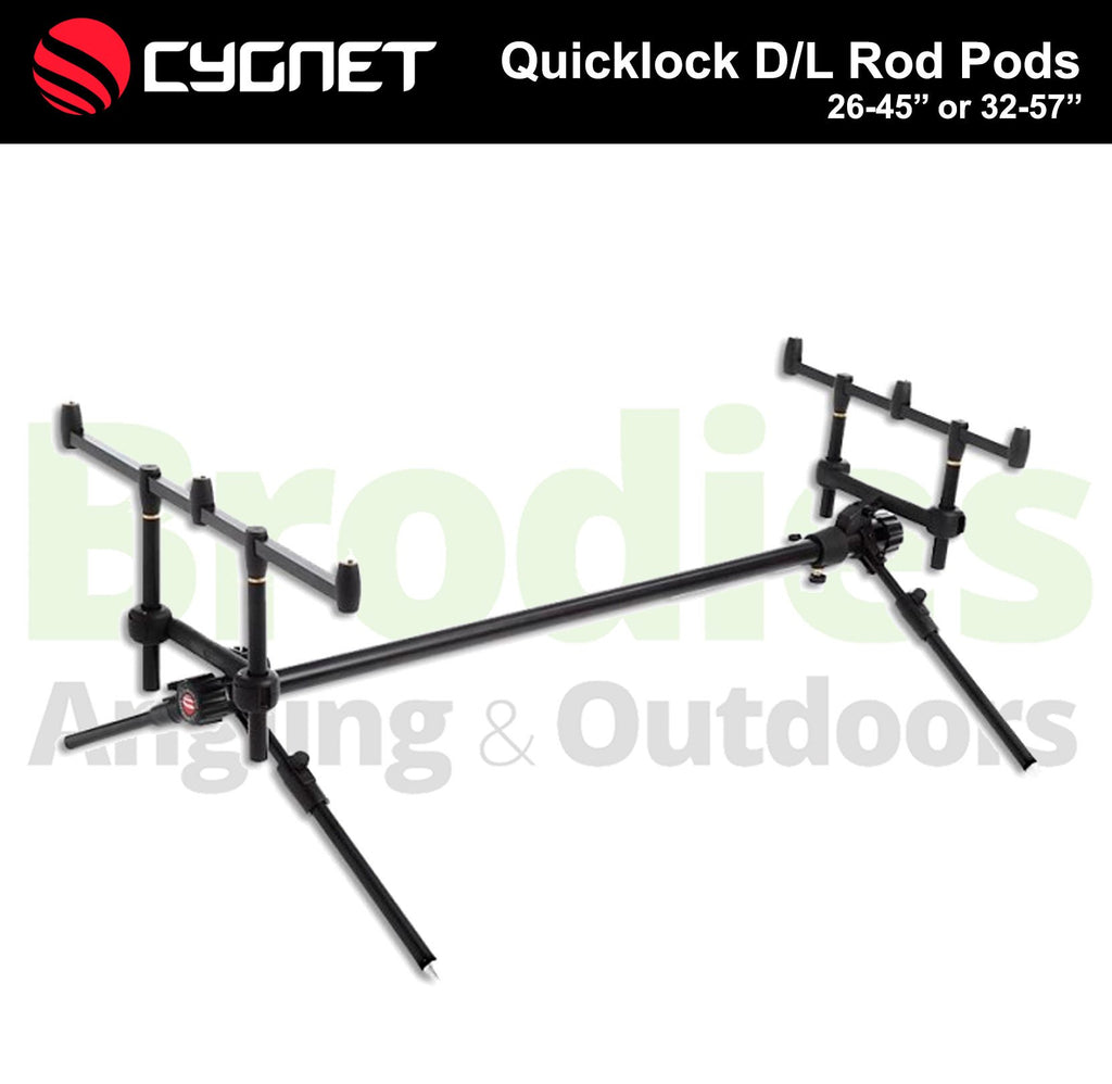 Cygnet Quicklock D/L Rod Pods-Cygnet-Brodies Angling & Outdoors