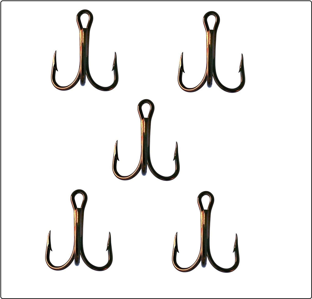 Dennett Standard Bronze Treble Hooks (10 pack)-Dennett-Brodies Angling & Outdoors