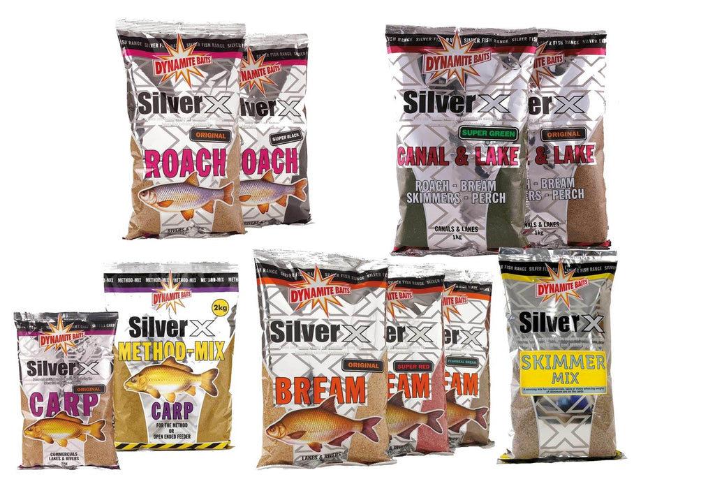 Dynamite Silver X Groundbait All Varieties | Bream - Canal & Lake - Carp Original - River - Roach-Dynamite-Brodies Angling & Outdoors
