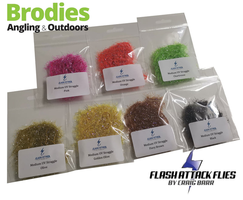 Flash Attack Medium UV Straggle Fritz-Flash Attack Flies-Brodies Angling & Outdoors