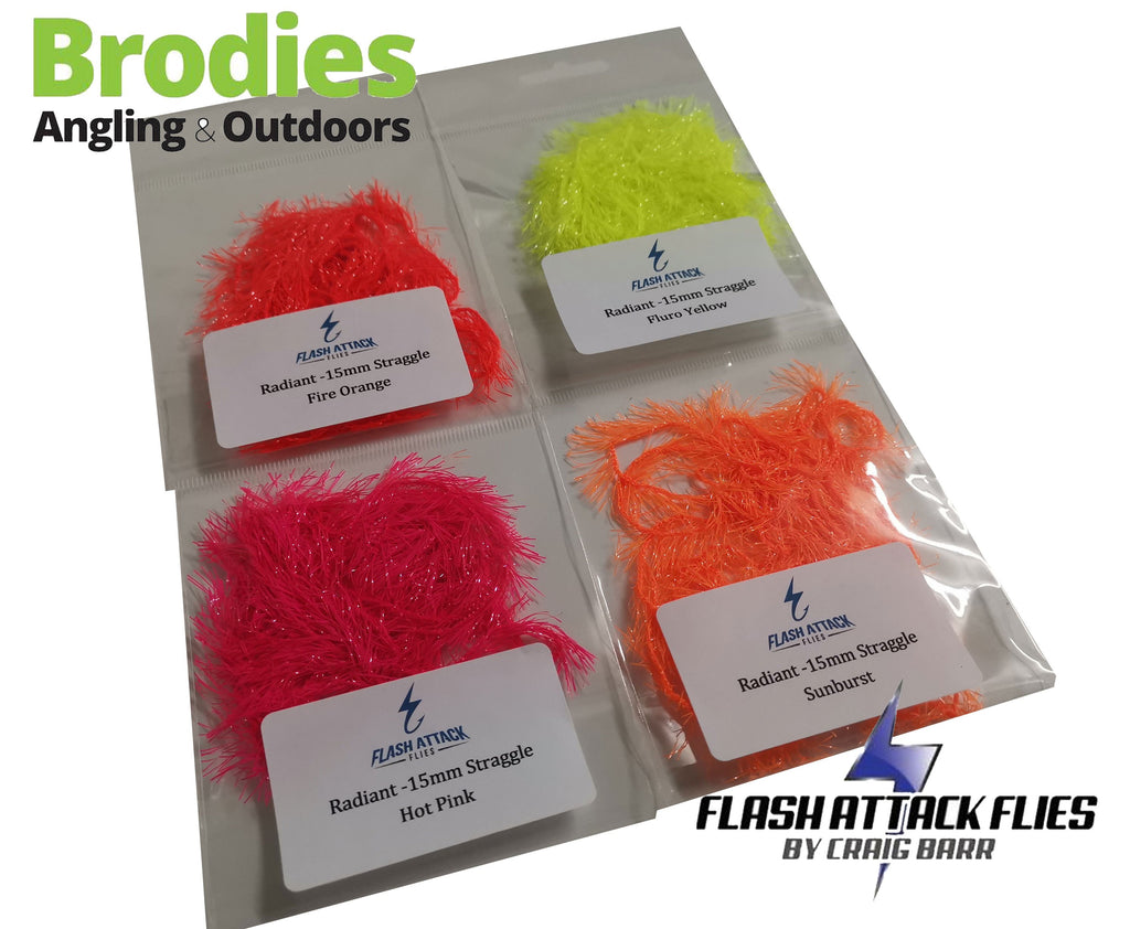 Flash Attack Radiant Straggle (15mm)-Flash Attack Flies-Brodies Angling & Outdoors