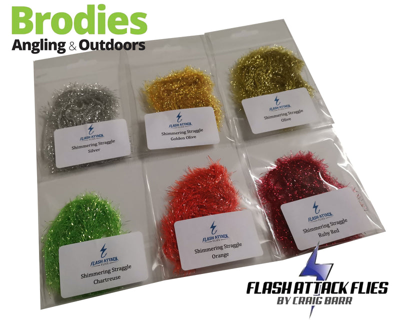 Flash Attack Shimmering Straggle-Flash Attack Flies-Brodies Angling & Outdoors
