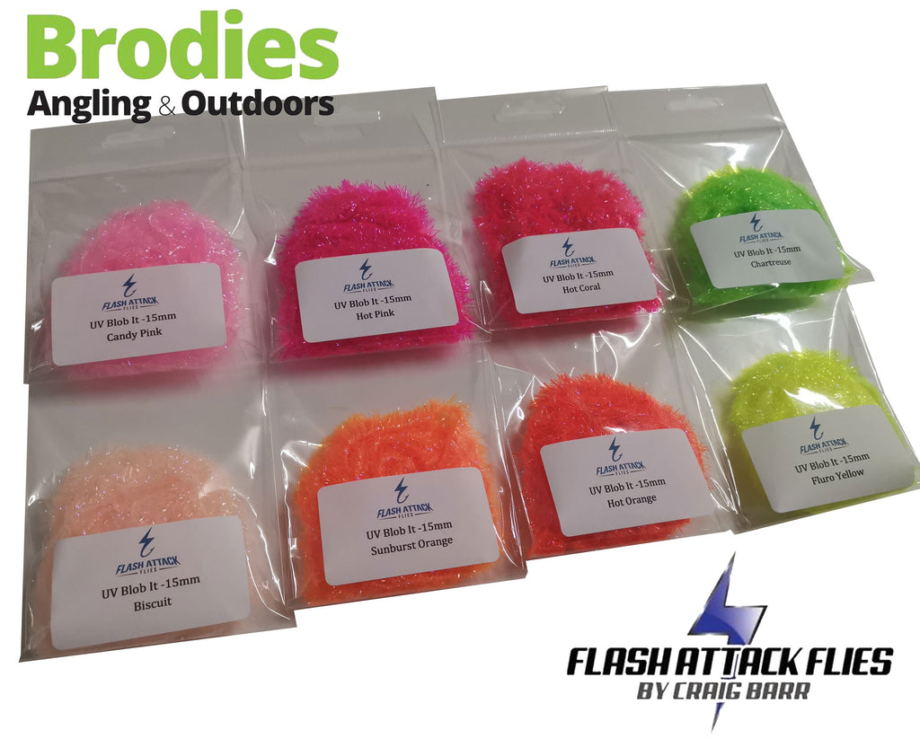 Flash Attack UV Blob-It Fritz (15mm)-Flash Attack Flies-Brodies Angling & Outdoors