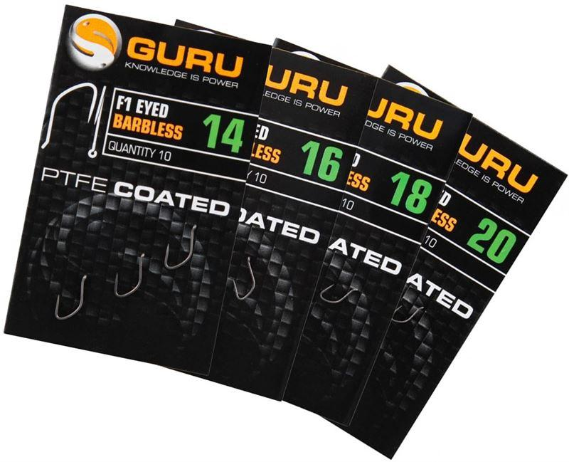 Guru F1 Eyed Hooks-Guru-Brodies Angling & Outdoors