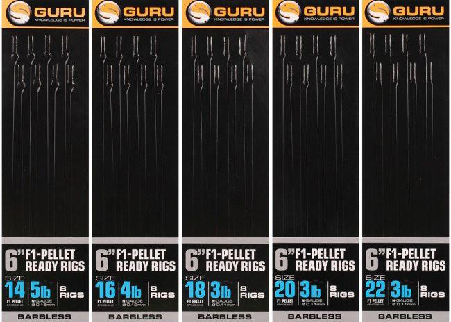 Guru F1 Pellet Ready Pole Rigs 6''-Guru-Brodies Angling & Outdoors