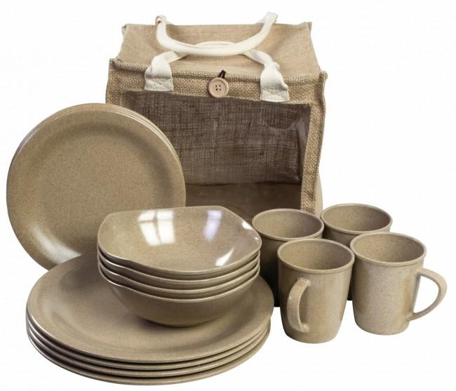 Highlander 16Pc Eco-Friendly Picnic Set-Highlander-Brodies Angling & Outdoors