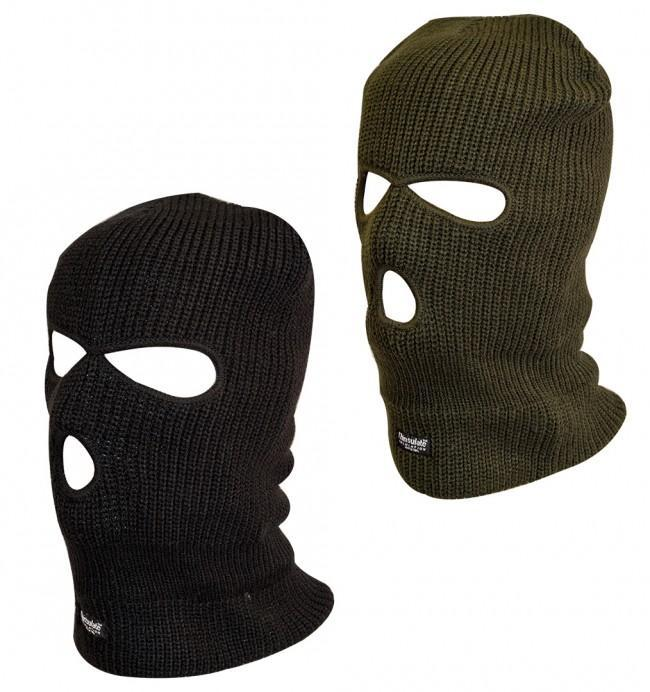 Highlander 3 Hole Thinsulate Military Balaclavas-Highlander-Brodies Angling & Outdoors